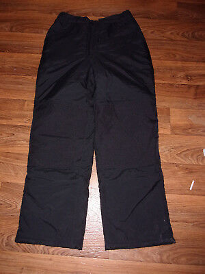 L.L. Bean Kid's Boys Girls Black Snow Pants Size 16 Large - EXCELLENT CONDITION