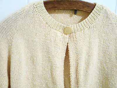 SALE Vintage 1960s Hand Knitted Cardigan Size 8 to 10 Excellent condition