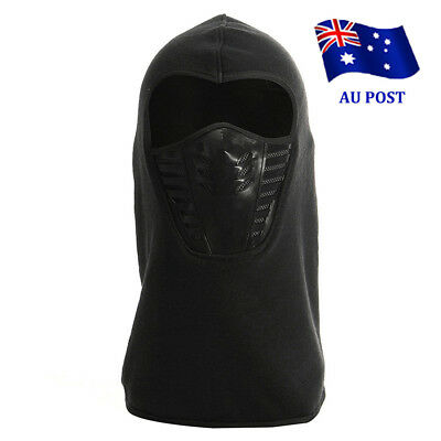 Full Face Thermal Fleece Balaclava Neck Warm Winter Ski Mask Cap Ninja Costume E