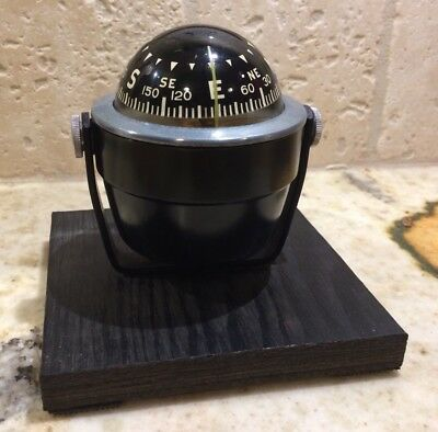 Vintage AirGuide Compass With Mounting Bracket & Base Made In Chicago USA Metal