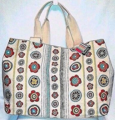 *NEW* RELIC Large Canvas Graphic Floral Reusable Tote