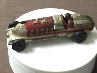 Antique HUBLEY Original Art Deco Pressed Steel Speedster Toy Race Car -  U.S.A