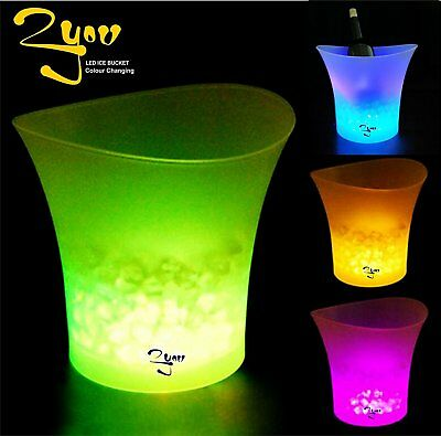 LED ICE BUCKET Colour Changing Champagne Wine Drinks Cooler Retro For Weddings