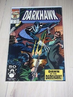 DARKHAWK #1 Fine/VG 1ST APPEARANCE & ORIGIN OF DARKHAWK MARVEL COMICS 1991