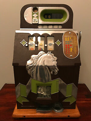 Antique Mechanical Slot Machine - Mills Horsehead Bonus - Quarter Play