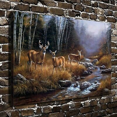 """Animal deer Paintings HD Canvas Print 24""""x36"""" Home Decor room Wall Art Picture"""