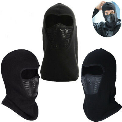 Full Face Thermal Fleece Balaclava Neck Warm Winter Ski Mask Cap Ninja Costume K
