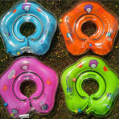 Inflatable Circle Newborn Neck Float Infant Baby Swimming Swim Ring Safety、Fad