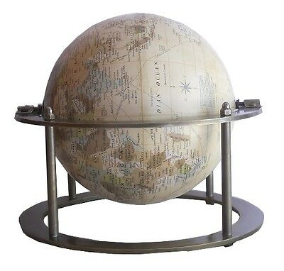"""Amazing Gift Item Antique 8"""" Globe With Antique Double Stand Replica"""
