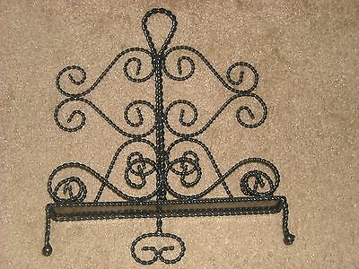 Large Black Metal Ornate Plate/photo Stand !!!