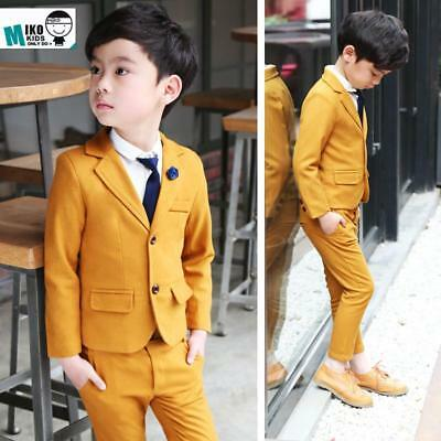 Yellow children Prom Suits 2-10Years Old Baby Boy Wedding Clother Suits High Qua