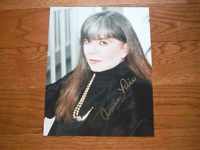 Anne Rice Autographed 8x10 Photo Hand Signed Interview with a Vampire
