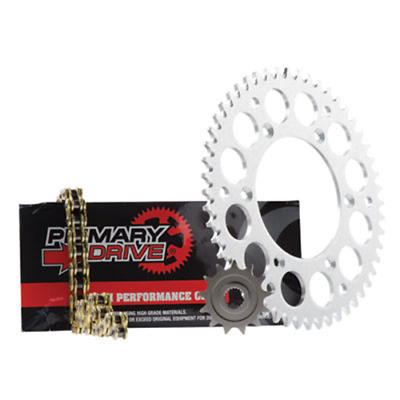 Primary Drive Alloy Kit & Gold X-Ring Chain HONDA CR125R 2002