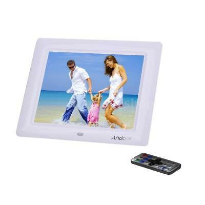 "8"" LCD Digital Photo Frame Picture Abulm Calendar Clock MP3 MP4 Movie Player US"