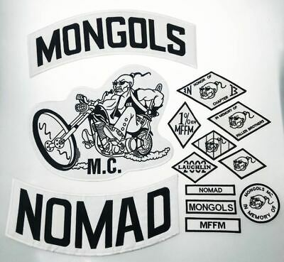 Mongols Nomad Mc Patch Set Motorcycle Vest Jacket Iron On