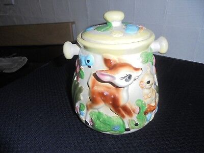Will post - Vintage Bambi Japanese biscuit barrel