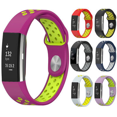 For Fitbit Charge 2 Breathable Sports Silicone Replacement Watch Wrist Band Gel