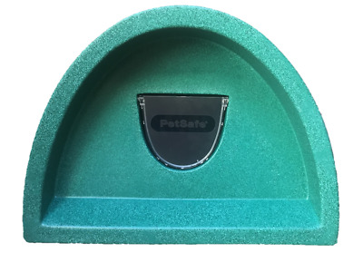 £59.99 Outdoor Cat Shelter/kennel Plastic Cat House With Self Heat Pad And Flap