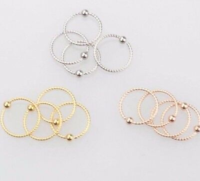 Surgical Steel Twist Piercing Ring Hoop Ball Septum Nose Lip Ear Tragus Helix