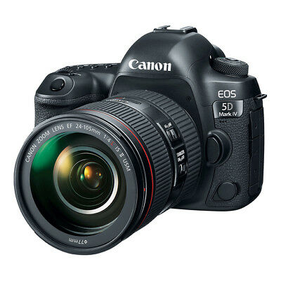 NEW Canon EOS 5D Mark IV 30.4MP DSLR Camera + 24-105mm f/4L IS II USM Lens BLACK