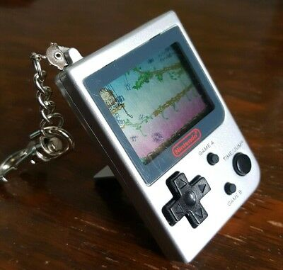 Rare Nintendo Game And Watch Donkey Kong Junior Jr Silver Mini Classic Game 1998