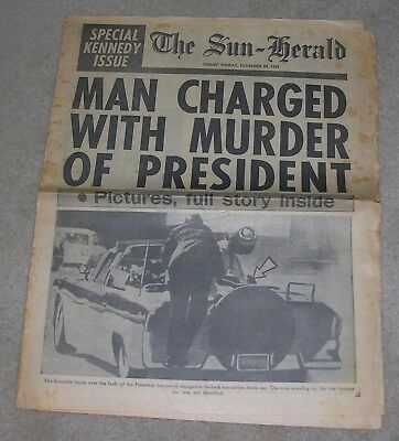 """The Sun-Herald Sydney,Sunday, November 24 1963"" Special Kennedy Issue Newspaper"