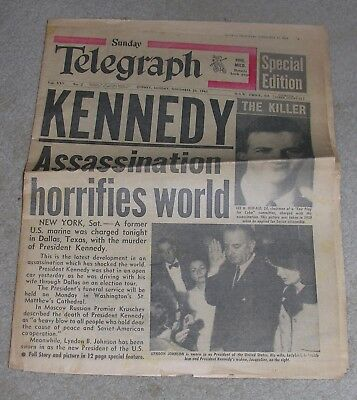 """Sunday Telegraph Sydney,Sunday, November 24 1963"" Special Edition Newspaper"