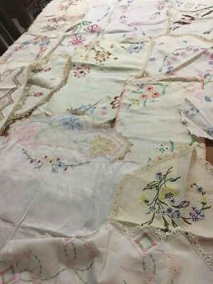 Vintage Doilies ,table Runners, Embroidered
