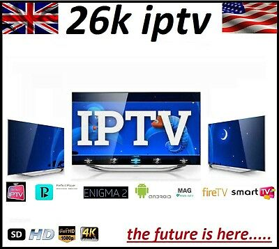 12 Iptv Subscription Mag Android Smart Tv Fire Perfect Player Enigma No Vpn!!!