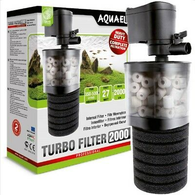 Filtro Interno Acquario Aquael Turbo Filter 500  Biologico Regolabile