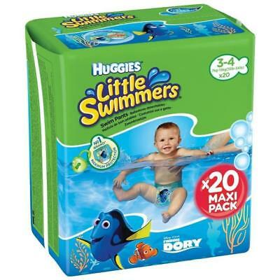HUGGIES  20 Couches de bain Littles swimmers Maxi Pack Taille 3/4