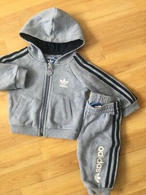 Adidas Baby Boys Jogging Suit / Set Joggers Bottoms, Hoodie, 3-6 Months Blue