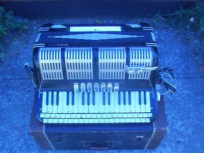 Vintage BUDAY Electric Accordion with Finto Keyboard 120 Bass w/ Case