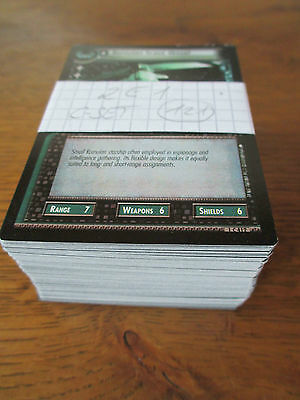 Star Trek SECOND EDITION   C Set - All 121 cards - ccg tcg ST TNG FC uss DS9 ent
