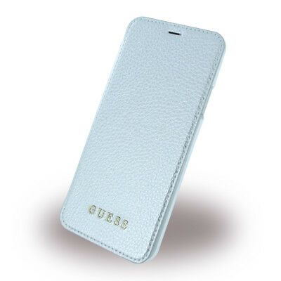 Guess - IriDescent - Book Cover - Apple iPhone X - Silber