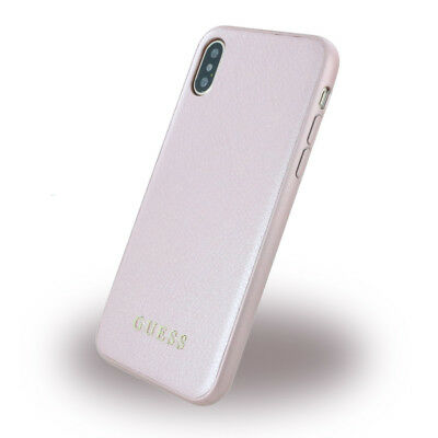 Guess - Iridescent - Hardcover - Apple iPhone X - Rose Gold