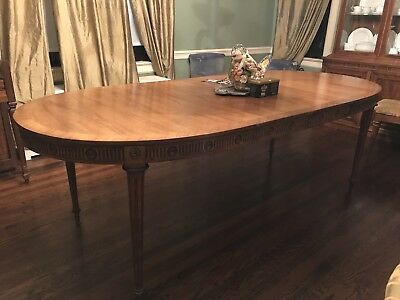 Antique Walnut Dining Room Table  Oval