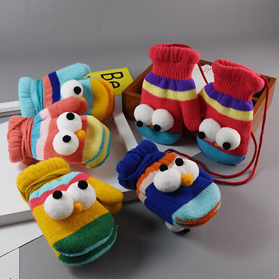 Cute Cartoon Winter Warm Soft Thicken Gloves Mittens For Kids Baby Child Toddler