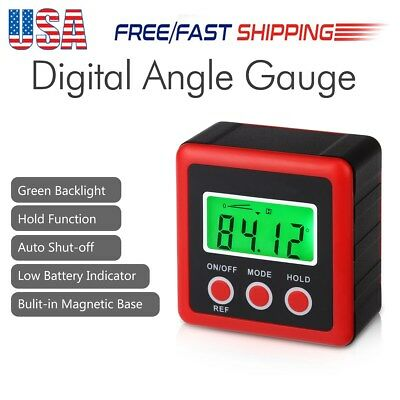 New Digital LCD Inclinometer Level Protractor Angle Finder Gauge Bevel Box Meter