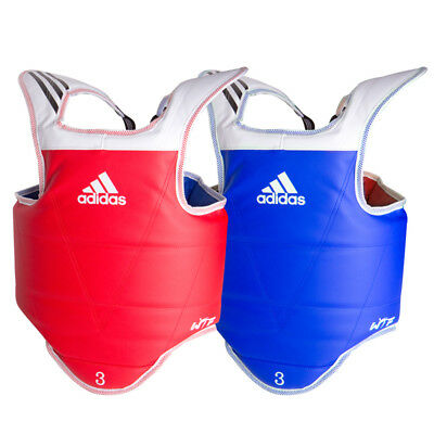 NEW Adidas Reversible Chest Protector - WTF Taekwondo Chest Guard Plate Red/Blue