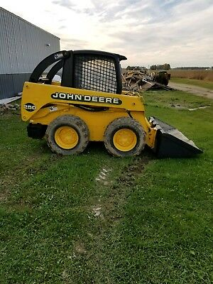 John Deere 250  Skid Steer Loader Plow Tractor Diesel Clean Low 1380 Hours