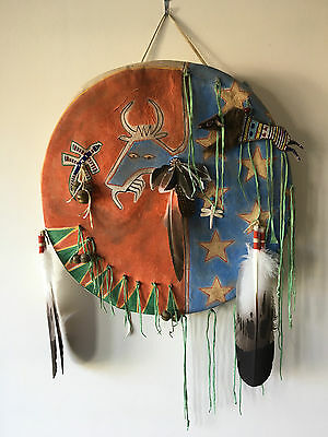 Ghost Dance Buffalo Shield by James Little Wounded - Prairie Edge - Lakota
