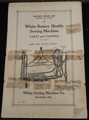 White Sewing Machine Parts & Prices  2 Treadle Stands