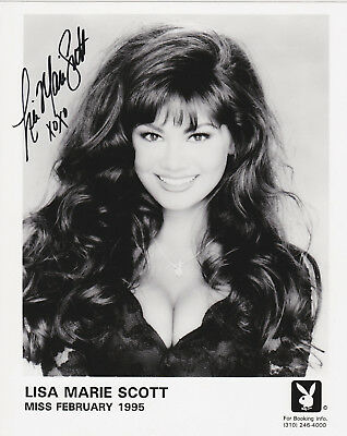 Lisa Marie Scott Miss Feb 1995 Playboy Model 8x10 Photo Autograph /Signed *LOOK*