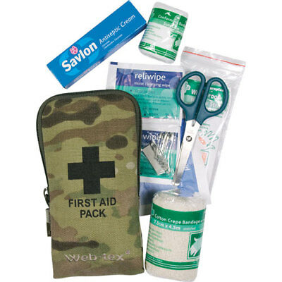Web-tex Small Unisex Adventure Gear First Aid Kit - Crye Multicam One Size