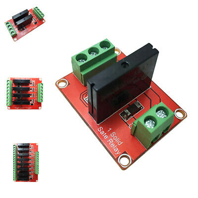 1/2/4/8CH Solid-State Relay Module High-level Board Output AC 240V/2A Red