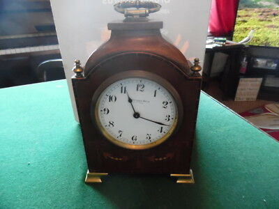 edwardian inlaid mantle clock