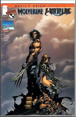 Image Top Cow Marvel WITCHBLADE WOLVERINE #1 GOLD EMBOSSED W/COA /5000