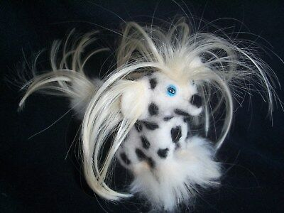 Chinese Crested hairless DOLL needle felted fiber dog wool art HANDMADE sculpted