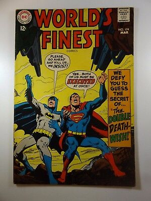 """Worlds Finest #174 """"The Double Death Wish!"""" Beautiful VG+ Condition!!"""